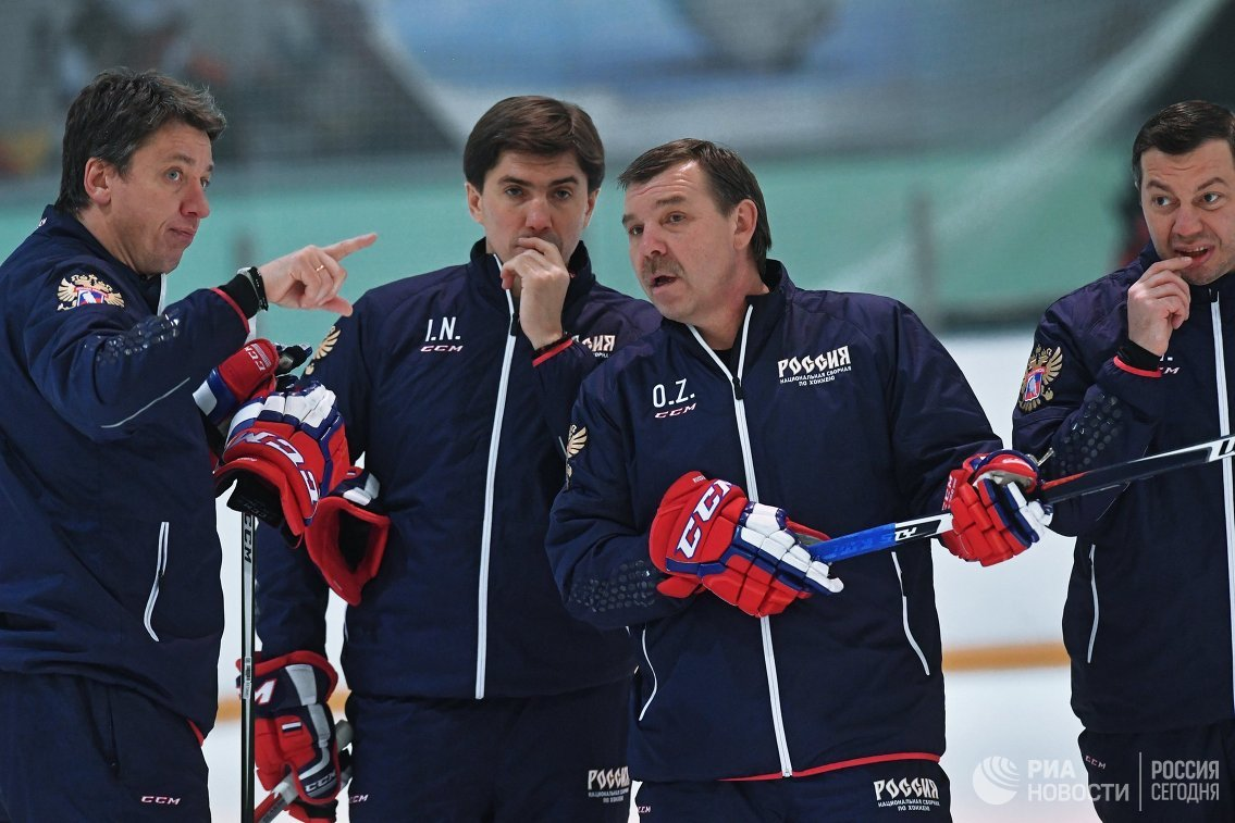 Никитин: тренеры российских хоккеистов готовы надеть георгиевские ленты на ОИ