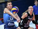 Игроки ЖВК Динамо Анастасия Маркова (слева) и Анна Малова