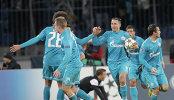 Игровой момент матча Зенит (Россия, Санкт-Петербург) - Малага (Испания, Малага)