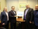 Георгий Брюсов, Виталий Мутко, Ненад Лалович и Михаил Мамиашвили (слева направо)