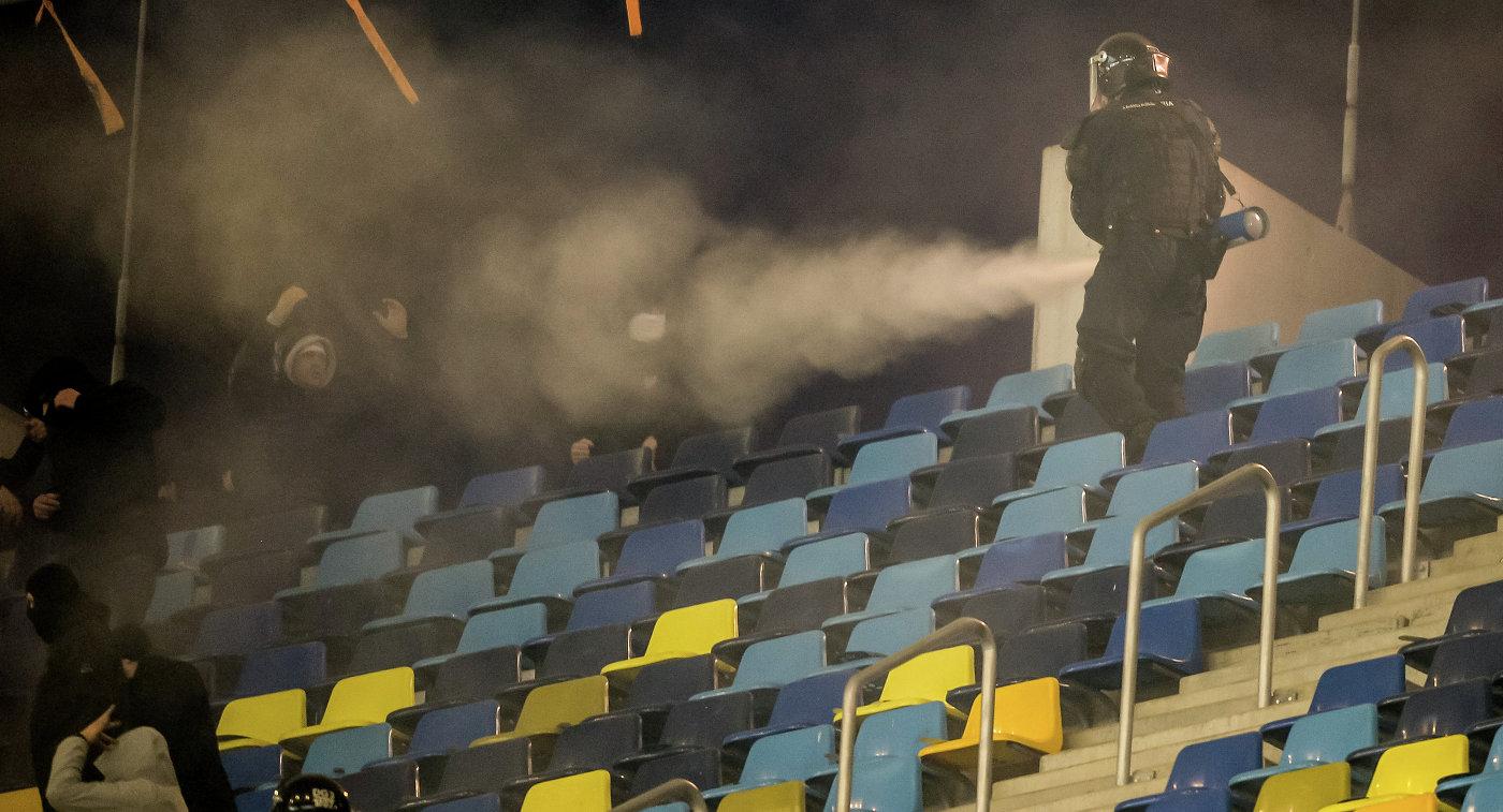 Беспорядки на матче Румыния - Польша