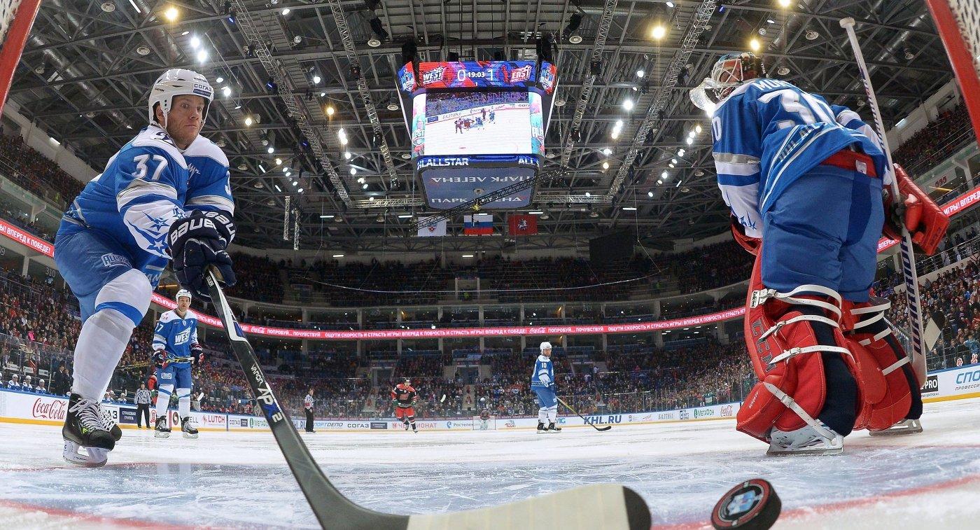 Игровой момент Матча Звезд КХЛ - 2016