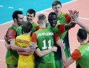 Волейболисты Локомотива радуются победе