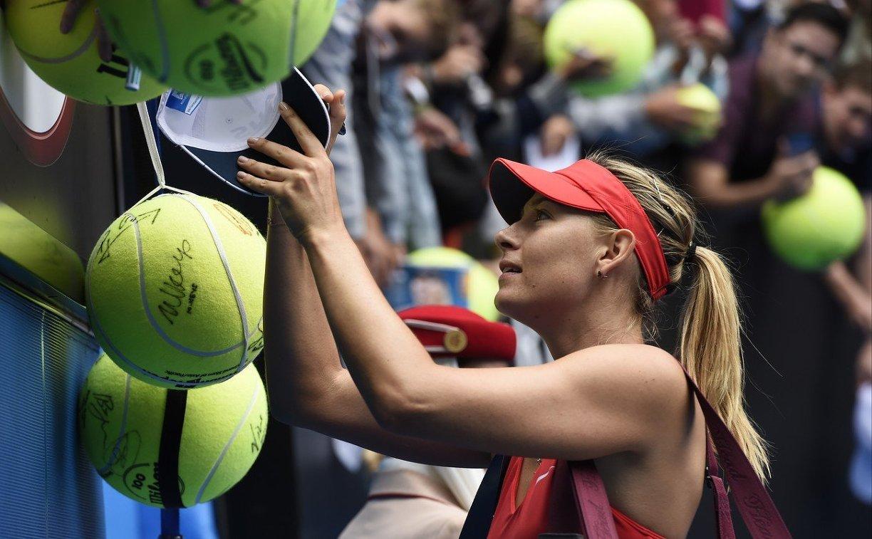 Теннисистка Мария Шарапова, одержавшая победу в 1-м матче после дисквалификации