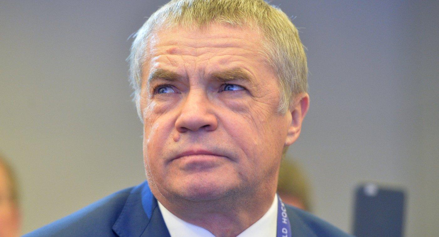 Председатель правления Молодёжной хоккейной лиги Александр Медведев
