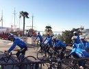 Велогонщики команды Газпром-Русвело