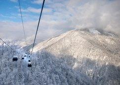 Зимний сезон открылся на горнолыжном курорте Роза Хутор в Сочи