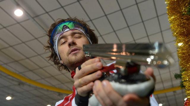 Трехкратный чемпион мира по конькобежному спорту Денис Юсков