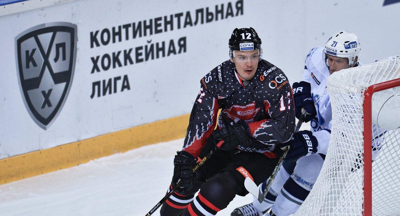 Шайба Меньшикова принесла «Авангарду» победу над «Сибирью» вматче КХЛ