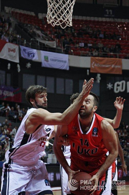 Игровой момент матча Локомотив-Кубань - УКАМ Мурсия