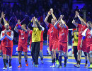 Российские гандболисты после победы над командой Японии