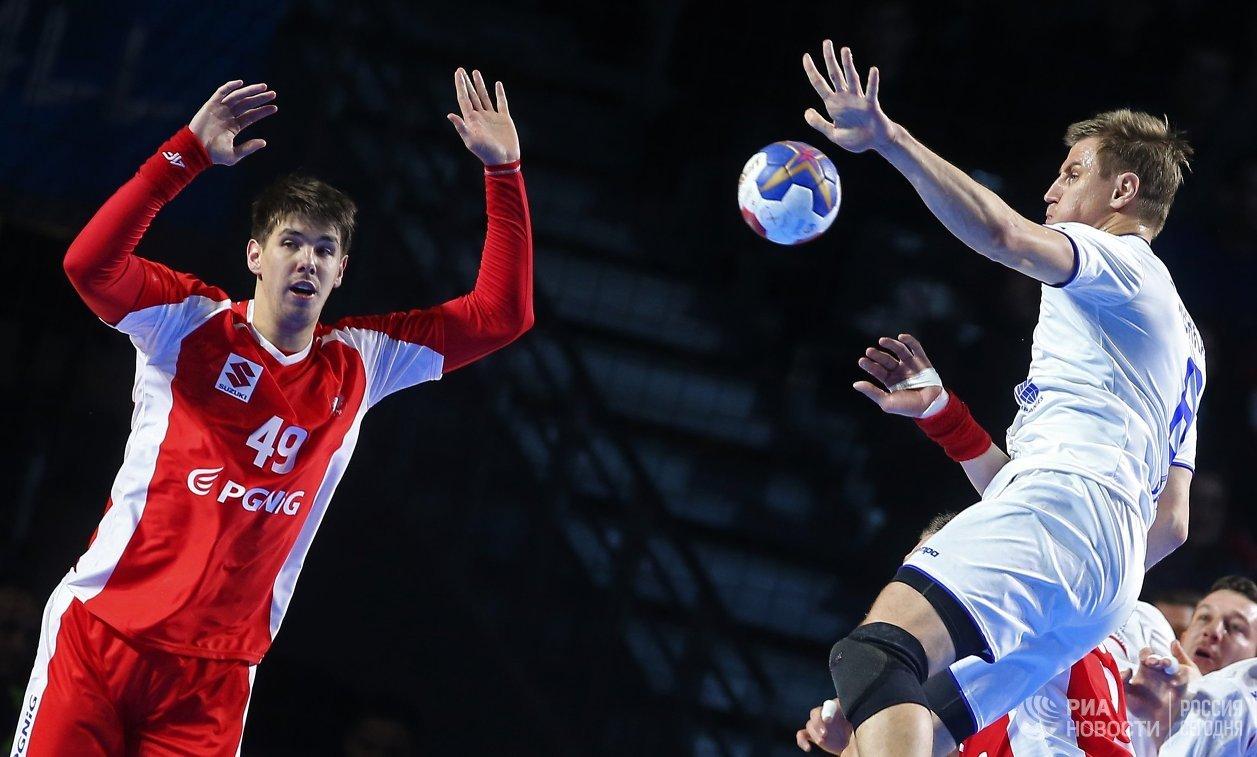 Игровой момент матча Польша – Россия