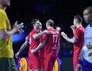 Российские гандболисты радуются победе