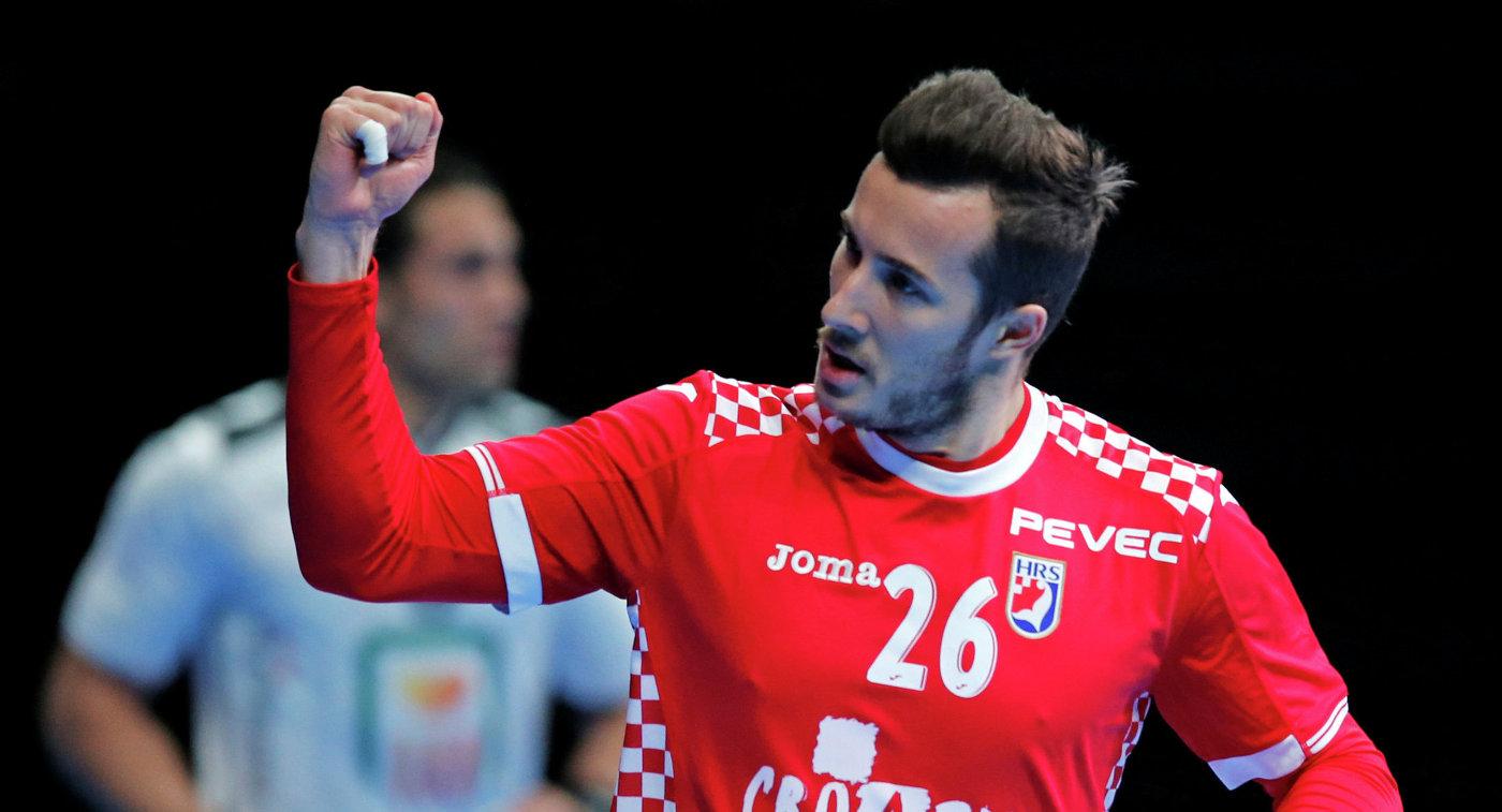 Игрок сборной Хорватии по гандболу Мануэль Штрлек
