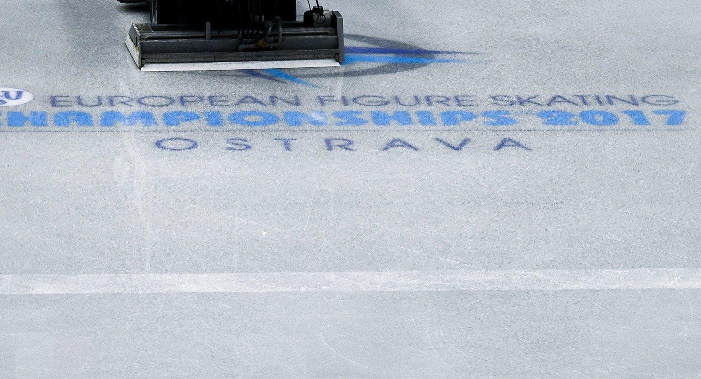 Логотип чемпионата Европы по фигурному катанию в Остраве