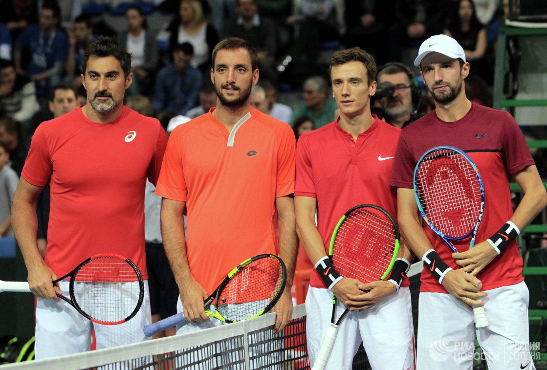 Слева направо: Ненад Зимонич, Виктор Троицки, Андрей Кузнецов и Константин Кравчук