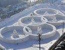 Снежные скульптуры, посвященные зимним Олимпийским играм 2018 года в Пхенчхане