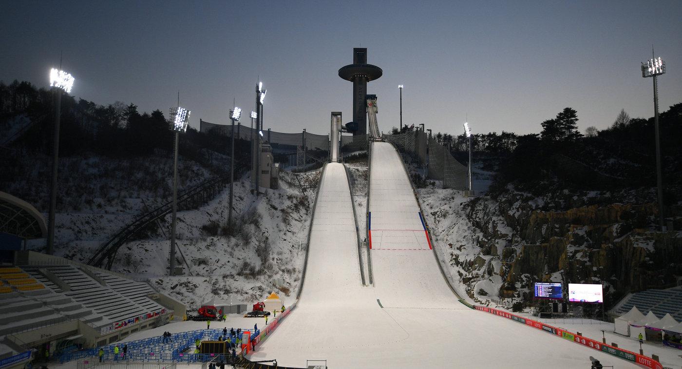 Парк для прыжков с трамплина Альпензия в Пхенчхане