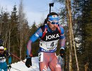 Российский биатлонист Антон Шипулин (на первом плане)