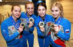 Юлия Портунова, Виктория Моисеева, Ульяна Васильева, Галина Арсенькина (слева направо)