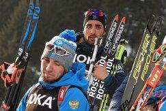 Александр Логинов и Мартен Фуркад (на дальнем плане)