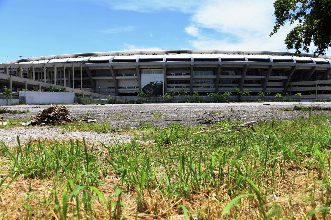 Состояние стадиона Маракана в Рио-д-Жанейро, 2017 год