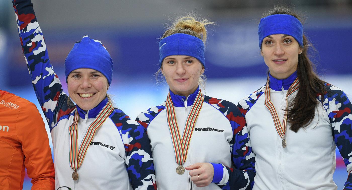 Ольга Граф, Наталья Воронина и Екатерина Шихова (слева направо)