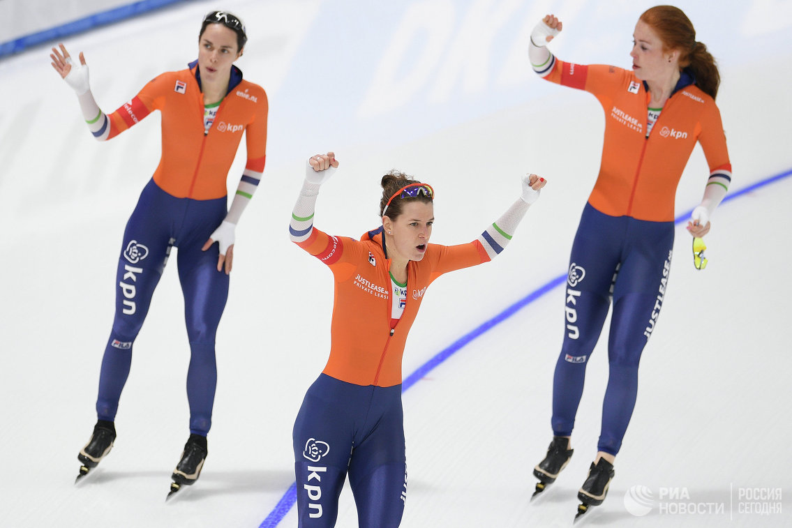 Спортсменки сборной Нидерландов по конькобежному спорту