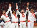Российские бегуны Владислав Фролов, Максим Дылдин, Денис Алексеев и Антон Кокорин (слева направо)
