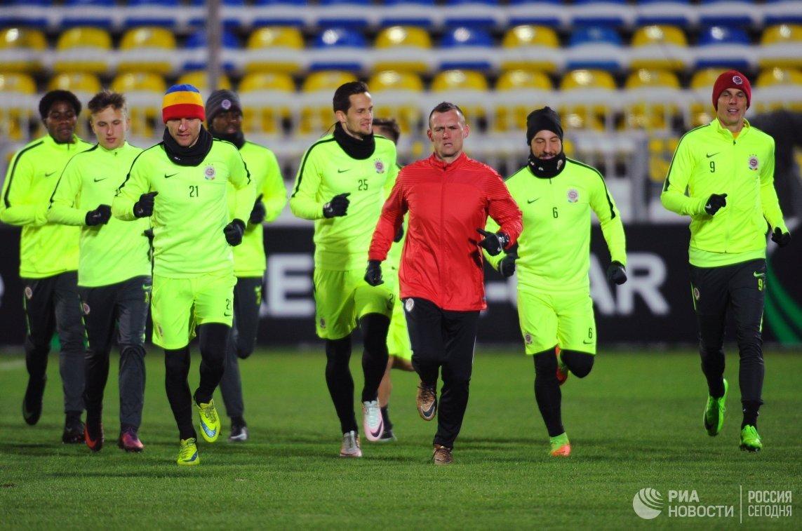 Тренировка ФК Спарта