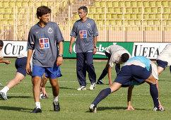 Главный тренер Порту Жозе Моуринью (в центре), 2003 год