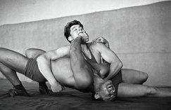 Чемпион мира по вольной борьбе Александр Иваницкий на тренировке