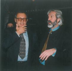 Знаменитый советский борец вольного стиля Александр Иваницкий и Борис Хмельницкий (слева направо)
