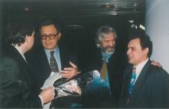 Олег Жолобов, Александр Иваницкий, Борис Хмельницкий и Владимир Иваницкий (слева направо)
