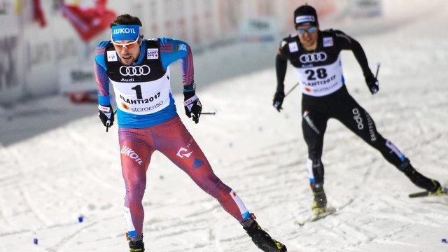 Сергей Устюгов (Россия) (слева)