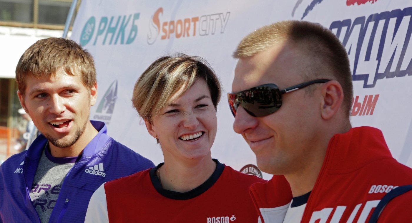 Руслан Перестюк, Вера Ребрик и Алексей Сокирский (слева направо)