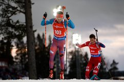 Слева направо: Тимофей Лапшин (Россия) и Ларс Хельге Биркеланн (Норвегия)
