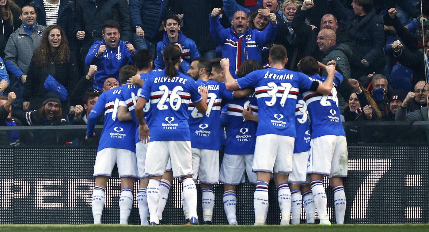 ВСерии, А «Милан» навыезде проиграл генуэзской «Сампдории»