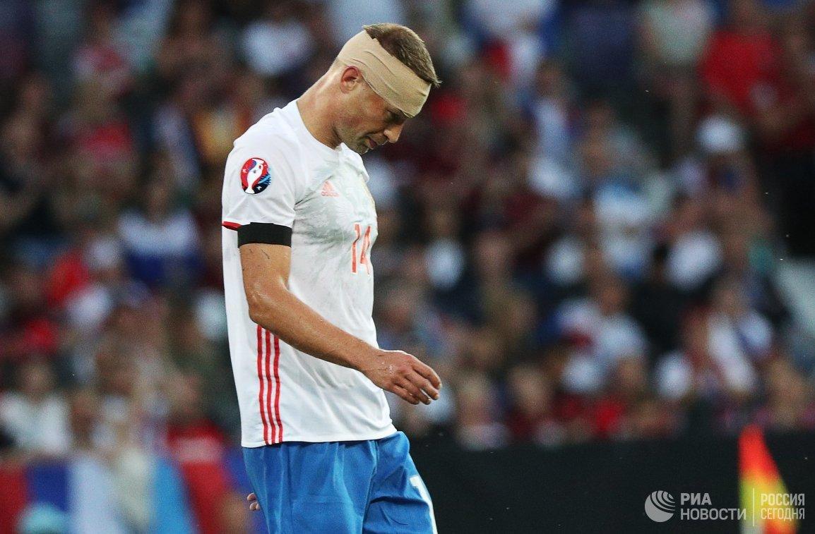 Защитник сборной России Василий Березуцкий