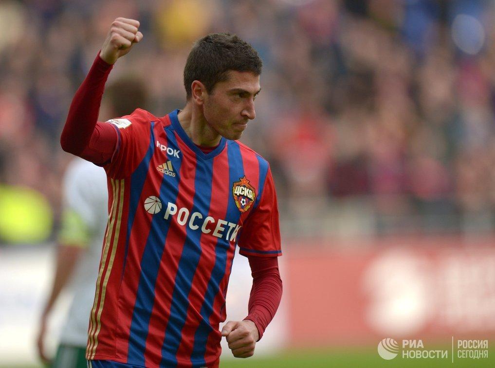 Нападающий ЦСКА Алексей Ионов