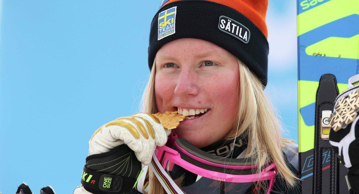 Шведская фристайлистка Сандра Неслунд