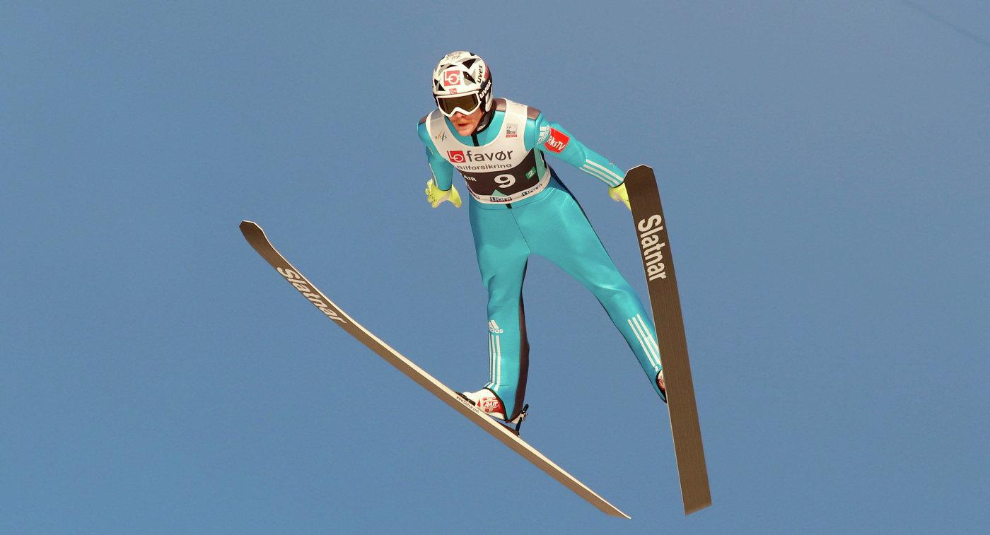 Норвежский летающий лыжник Роберт Йоханссон
