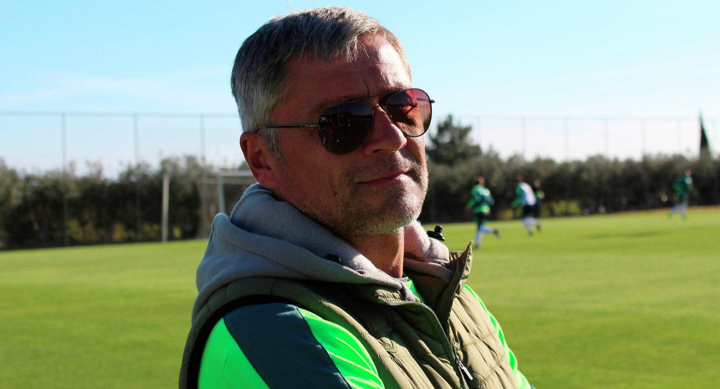 Тренер вратарей футбольного клуба Уфа Юрий Перескоков