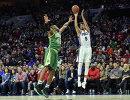 Игровой момент матча регулярного чемпионата НБА Филадельфия Сиксерс - Бостон Селтикс