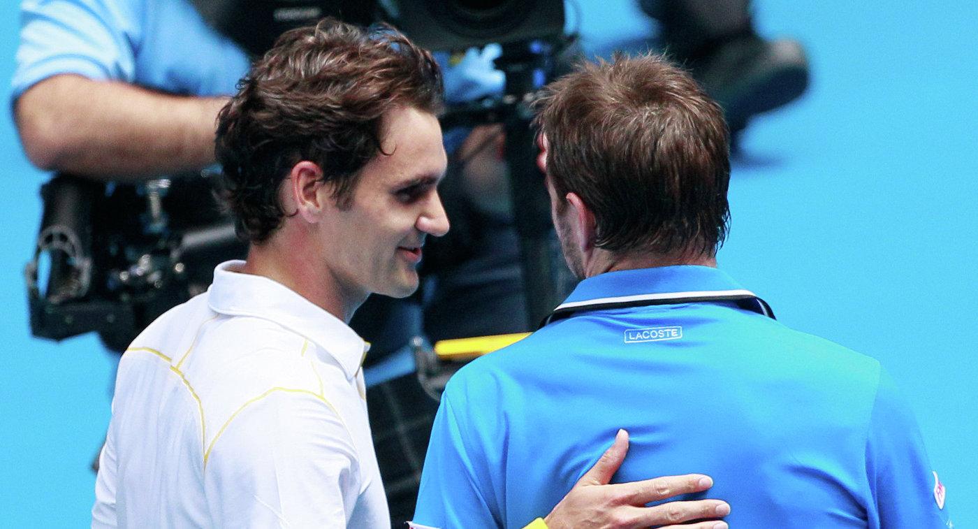 Роджер Федерер и Станисласа Вавринка (слева направо)