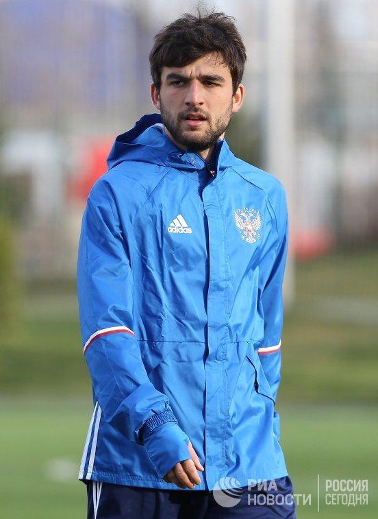Защитник сборной России Георгий Джикия