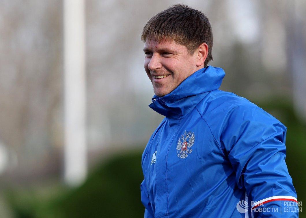 Вратарь сборной России Александр Беленов