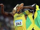 Ямайский спринтер во время Олимпийских игр в Пекине