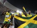 Ямайские спринтеры во время Олимпийских игр 2008 года в Пекине