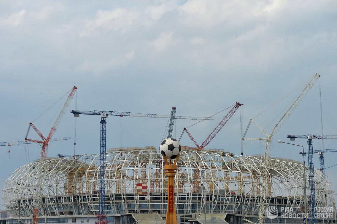 На территории строительства стадиона Мордовия Арена